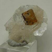Powellite On Apophyllite With Stilbite