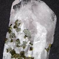 Danburite With Chalcopyrite & Pyrite