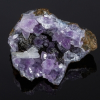 Amethyst Chabazite Smectite Group & Calcite