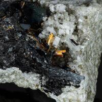 Rutile Hematite Albite Adularia & Quartz