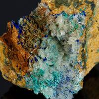 Azurite Aragonite & Malachite