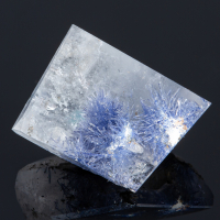 Dumortierite In Rock Crystal