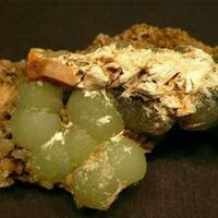 Prehnite Laumontite Babingtonite & Byssolite