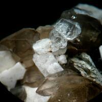 Hyalite Topaz & Smoky Quartz