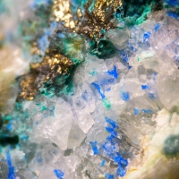 Linarite Malachite & Chalcopyrite