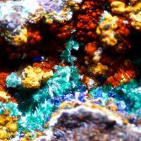Malachite Chalcoalumite & Azurite