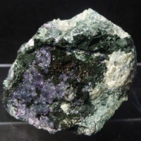 Fluorite Allanite-(Ce) & Chlorite