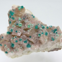 Dioptase Malachite Duftite Dolomite & Calcite