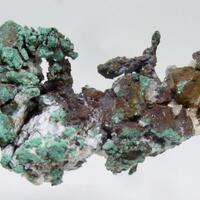 Native Copper Malachite & Cuprite