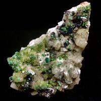 Duftite Malachite Dioptase & Dolomite