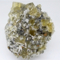 Fluorite Mimetite Galena & Malachite