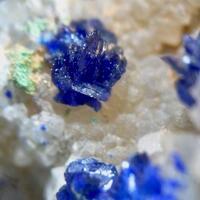 Azurite Malachite Cuprite & Quartz