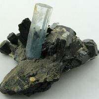 Aquamarine Hyalite & Schorl