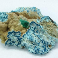 Malachite Shattuckite Plancheite Calcite & Quartz