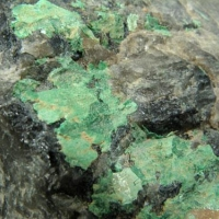 Metazeunerite On Quartz