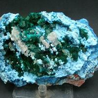 Plancheite Shattuckite Dioptase & Calcite