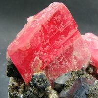 Rhodochrosite Galena & Chalcopyrite