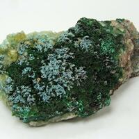 Malachite Plancheite & Calcite