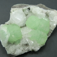 Prehnite Analcime & Calcite
