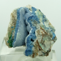 Shattuckite On Quartz