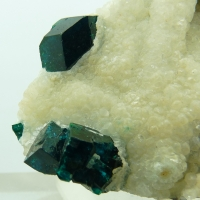 Dioptase In Calcite
