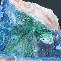Shattuckite Malachite Plancheite & Quartz