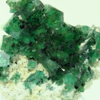 Fluorite On Feldspar