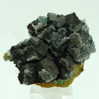 Fluorite With Mica & Goethite