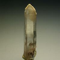 Quartz With Calcite & Goethite