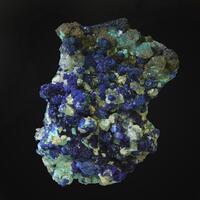 Azurite Calcite & Conichalcite