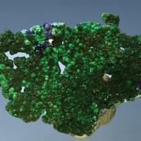 Brochantite & Azurite On Native Copper