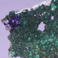 Brochantite On Copper & Azurite
