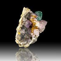 Malachite Psm Azurite & Fluorite