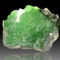 Cuprian Smithsonite On Fluorite