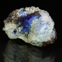Arsenocrandallite Azurite & Conichalcite