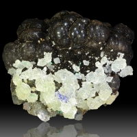Calcite Azurite Malachite & Manganese Oxides