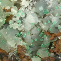 Cuprian Smithsonite Cuprian Adamite Azurite Malachite & Agardite