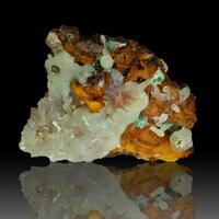 Cuprian Smithsonite & Malachite
