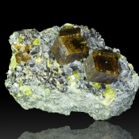 Andradite Diopside & Biotite