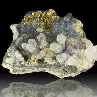 Boulangerite Rhodochrosite Quartz & Pyrite
