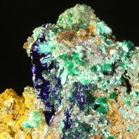 Azurite Brochantite Malachite & Calcite