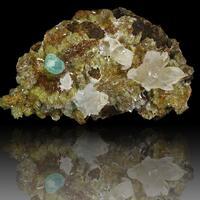 Cuprian Adamite Calcite & Adamite