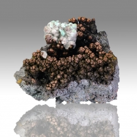 Goethite Calcite & Malachite