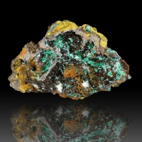 Agardite Malachite & Brochantite