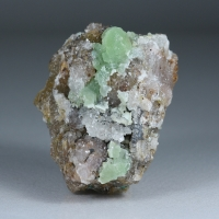 Cuprian Smithsonite & Quartz