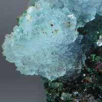 Cuprian Aragonite Cuprite Azurite & Cuprian Adamite