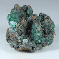 Cuprian Adamite Aragonite Copper Malachite & Goethite