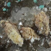 Quartz Rosasite Calcite & Malachite