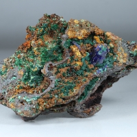 Azurite Agardite Brochantite & Malachite