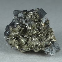 Bournonite Pyrite & Quartz